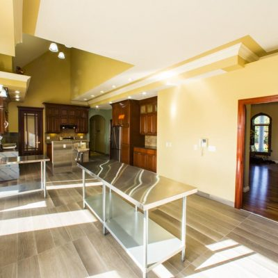 Spacious sunny commercial kitchen